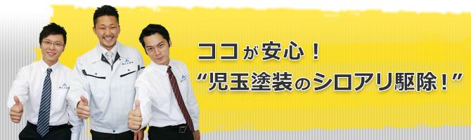 """ココが安心!""""児玉塗装のシロアリ駆除!"""""""