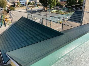 屋根棟 上塗り