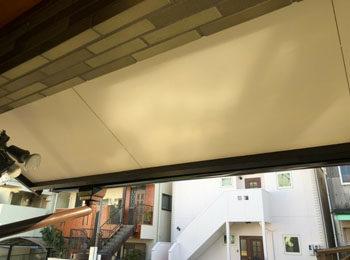 軒天上 塗装後