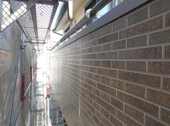 外壁タイル調部分 施工前