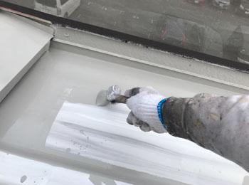 屋根 下塗り中②