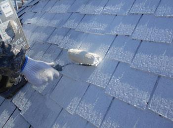 屋根 下塗り2回