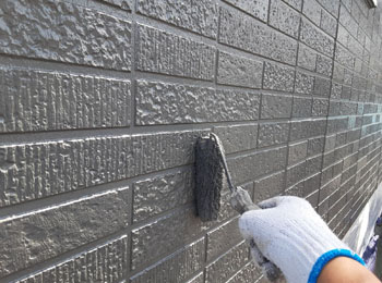 外壁 中塗り2回目
