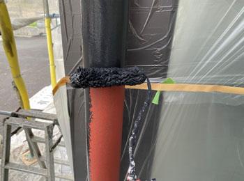 雨樋 中塗り
