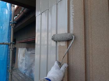 外壁 施工中