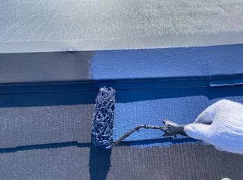 屋根 中・上塗り