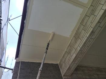 軒天井 施工中